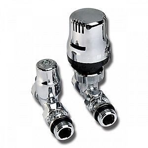 Altecnic Ecocal Straight Twin Pack TRV Chrome Head 15mm 200485 LTC