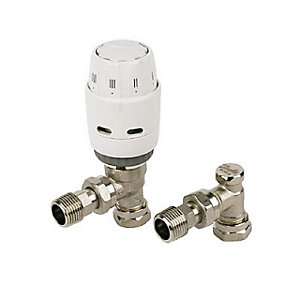 Danfoss Angled TRV & Lockshield - Ras-C2 8/10 mm