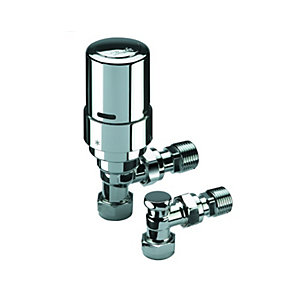 Danfoss Ras-D2 8/10/15mm Reversible Angled TRV & Lockshield Liquid Sensor Pack 013G601600