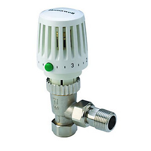Honeywell Home Valencia Traditional TRV & Lockshield 10mm Angled Body VTL120-10A