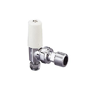Pegler Terrier 644007 10mm 367 Chrome Plated Wheel Handle Angled Lockshield Valve