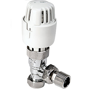 PlumbRight Angled Thermostatic Radiator Valves TP15TRVA