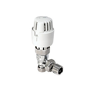 PlumbRight Angled Thermostatic Radiator Valves TRV Only 8/10 mm TP10TRVA