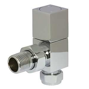 Towelrads Angled Manual Valves Square Brass 1/2""