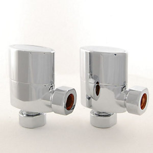 Towelrads Oval Angled Valves Chrome 1/2""