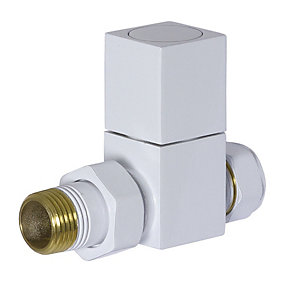 Towelrads Straight Manual Valves Square White 1/2""