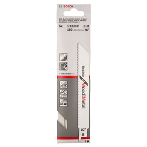Bosch Flexible for Wood and Metal Sabre Saw Blades S922HF (Pack of 5)