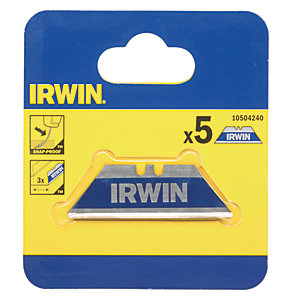 Irwin Bi-Metal Blue Trapezoid Knife Blades (Pack of 5)