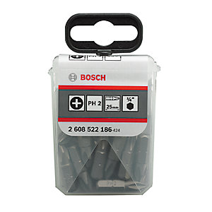 Bosch PH2 Screwdriver Bit Set 25 Pieces