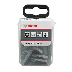Bosch Screwdriver Bits PZ2 - 25 Pieces