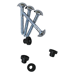 4TRADE Chrome Plated Mirror Screws 25mm x 8g (Pack of 4)