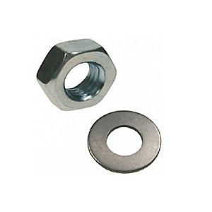 Rawlplug M10 Nuts and Washers Pack - 10 Pieces