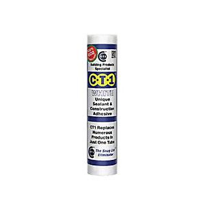 C-Tec CT1 White Sealant & Construction Adhesive 290ml