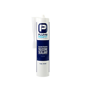 Plumbright Sanitary Clear Silicone Sealant 310ml