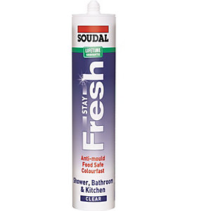 Soudal Stay Fresh Clear Sanitary Sealant