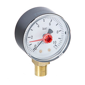 Altecnic 0-10 Bar Bottom Connection Pressure Gauge Dial 50 mm 1/4 in WI-557310