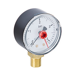 Altecnic 0-4 Bar Bottom Connection Pressure Gauge Dial 50 mm 1/4 in WI-557304