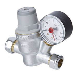 Altecnic 533 Pressure Reducing Valve Including Gauge 22 mm 533851H