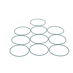 Rie 3007175 O-ring Pk of 10 Rep 3007162