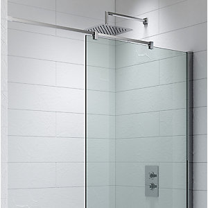 Kudos Ultimate2 'S'hower Enclosure Panel Ceiling To Wall 'S'tabiliser Including Rail 1500 mm 10WPCW