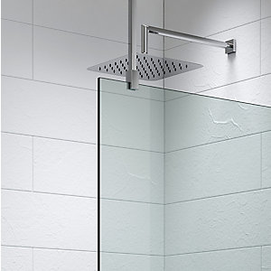 Kudos Ultimate2 Shower Enclosure Panel Glass to Ceiling Stabiliser Including Rail 600 mm 10WPGC