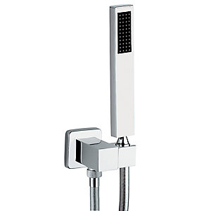 Abode Ab2453 Square Combined Wall Outlet & Handshower & Bracket