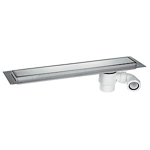 McAlpine Brushed Stainless Steel Shower Channel 600mm CD600-B