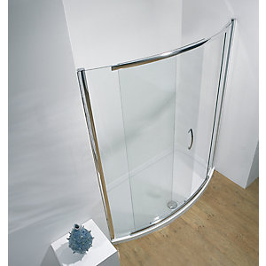 Kudos Infinite Bowed Sliding Door Shower Enclosure 1500 mm 4BOWS150S