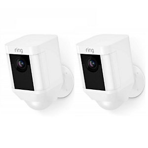 2 x Ring Spotlight Cam Smart Security Camera - White Bundle