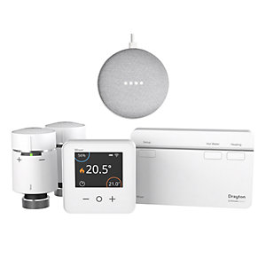 Drayton Wiser Multizone Smart Thermostat Kit 2 & Free Google Mini