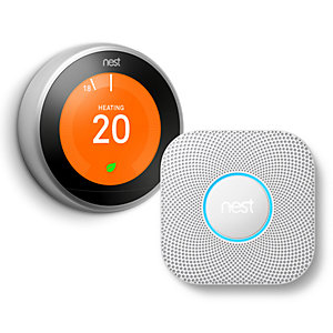 Google Nest 3rd Generation Learning Thermostat + Google Nest Protect Smoke & CO Alarm (2nd Generation) Bundle (249090)