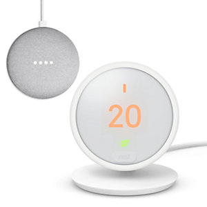 Google Nest Smart Thermostat E & Free Google Nest Mini