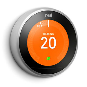 Google Nest Smart Thermostat - Stainless Steel - 3rd Generation
