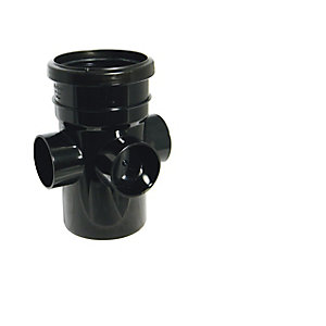 Floplast 110MM PVC-U Bossed Acc pipe Black Single Socket (SP581B)