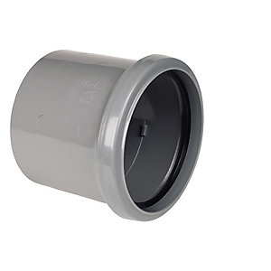 Floplast 110MM PVC-U Single Socket GreySolvent Weld (SP124G)