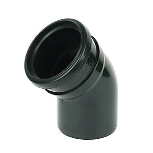 Floplast 110MM PVC-U bend 45 Degree Black Single Socket (SP163B)