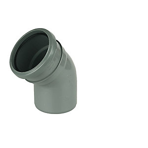 Floplast 110MM PVC-U bend 45 Degree Grey Single Socket (SP163G)