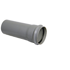 Floplast 110MM X 3M PVC-U pipe Grey Single Socket (SP3G)