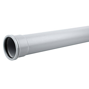 Osma OsmaSoil System Single Socket Pipe Grey 82 mm x 2 m 3S042G