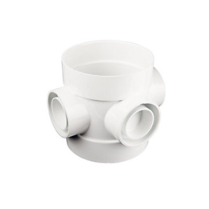 Wavin OsmaSoil PVC-U Short Boss White 110mm 4S588W