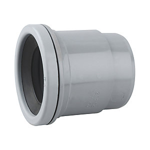 Wavin OsmaSoil Single Socket Boss Ring Seal Adaptor Grey 50mm 2S402G