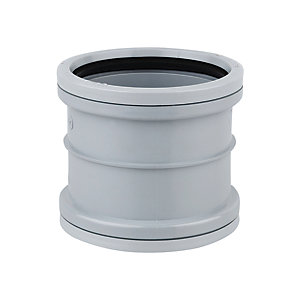 Wavin OsmaSoil System Double Socket Grey 82mm 3S105G