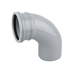 Wavin OsmaSoil System Single Socket Bend 87.5 Degree Grey 82mm 3S161G