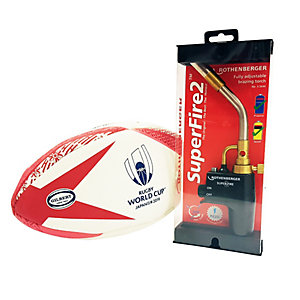 Rothenberber Superfire 2 Torch with Free Licensed Rugby World Cup Ball (Large, Assorted Colours)