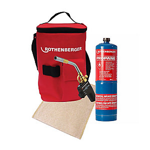 Rothenberger Super Fire Torch With Free Propane Gas And Solder Mat