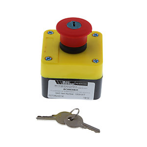 Blk Powersev Emergency Switch - Key Op BC66ESB/K