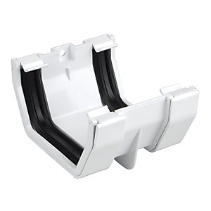 Osma Squareline 4T805 Guttering And Rainwater White Gutter Joint Bracket