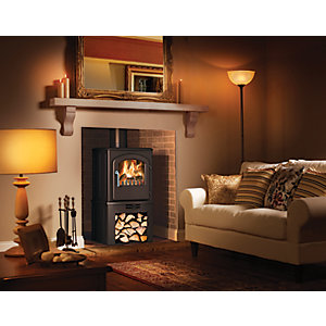 Broseley Serrano 5kW Multifuel Stove with Log Store