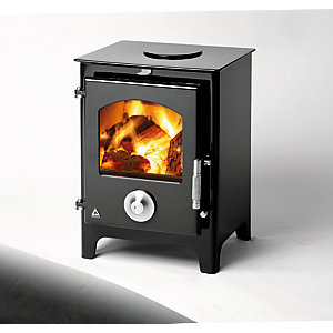 Trianco Newton 5kW Defra Approved Solid Fuel Stove - Black