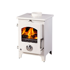 Trianco Newton 5kW Defra Approved Solid Fuel Stove - Cream